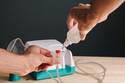Подготовка небулайзера к ингаляции