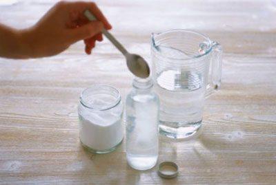 Приготовление раствора для полоскания горла