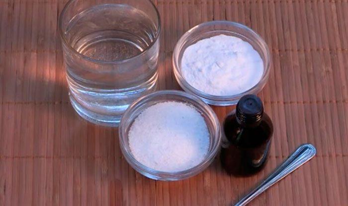Соль с содой и йодом