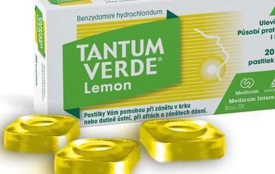 Тантум верде со вкусом лимона