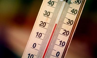 На термометре 25 градусов