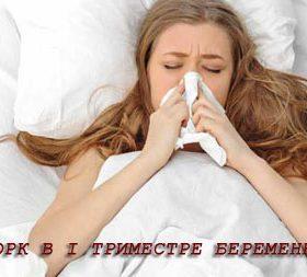 Особенности лечения насморка в первом триместре беременности