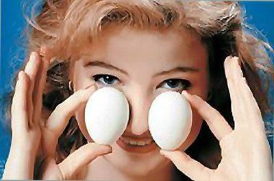 Яйца для прогревания носа