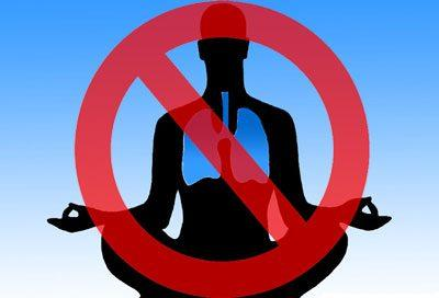 Запрет на дыхательную гимнастику