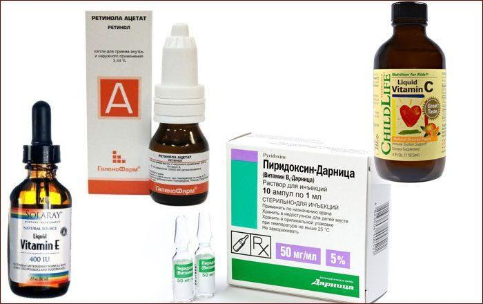 Жидкие витамины для лечения ушей